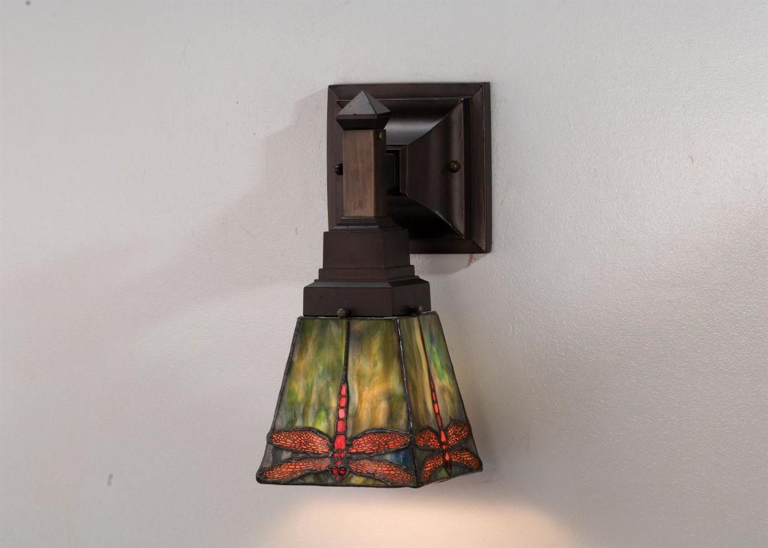 Meyda Tiffany 48187 Tiffany Glass Stained Glass / Tiffany Down Lighting Wall Sconce from the ...