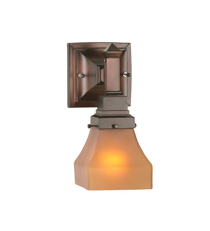 Tiffany Wall Sconce With Switch : Meyda Tiffany 50357 Mahogany Bronze Single Light Down Lighting Wall Sconce from the Amber ...
