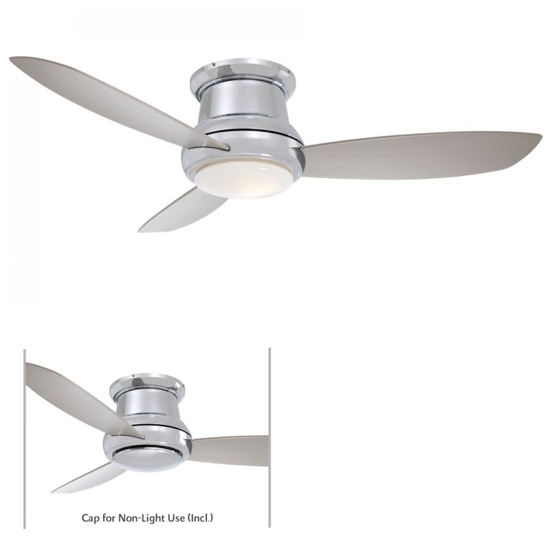 "Roof Lighting Concept In Basic Form: MinkaAire F519-PN Polished Nickel 3 Blade 52"" Concept II"