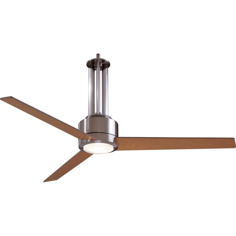 minkaaire f531 l bn brushed nickel maple 3 blade 56 ceiling fan light wall control and. Black Bedroom Furniture Sets. Home Design Ideas