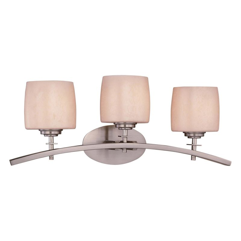 Minka lavery 6183 84 brushed nickel 3 light bathroom vanity light from the contemporary bath art for Minka bathroom light fixtures