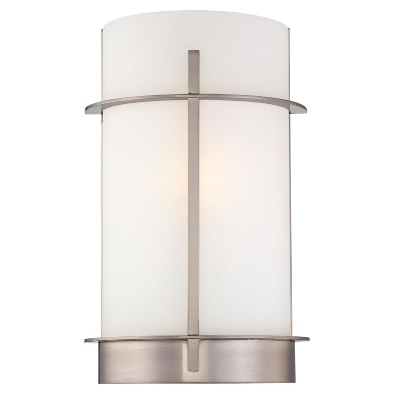 Wall Sconce Mounting Height Ada : Minka Lavery 6460-84 Brushed Nickel 1 Light 7.75