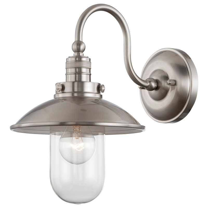 Minka Lavery 71162-84 Brushed Nickel 1 Light Barn Light