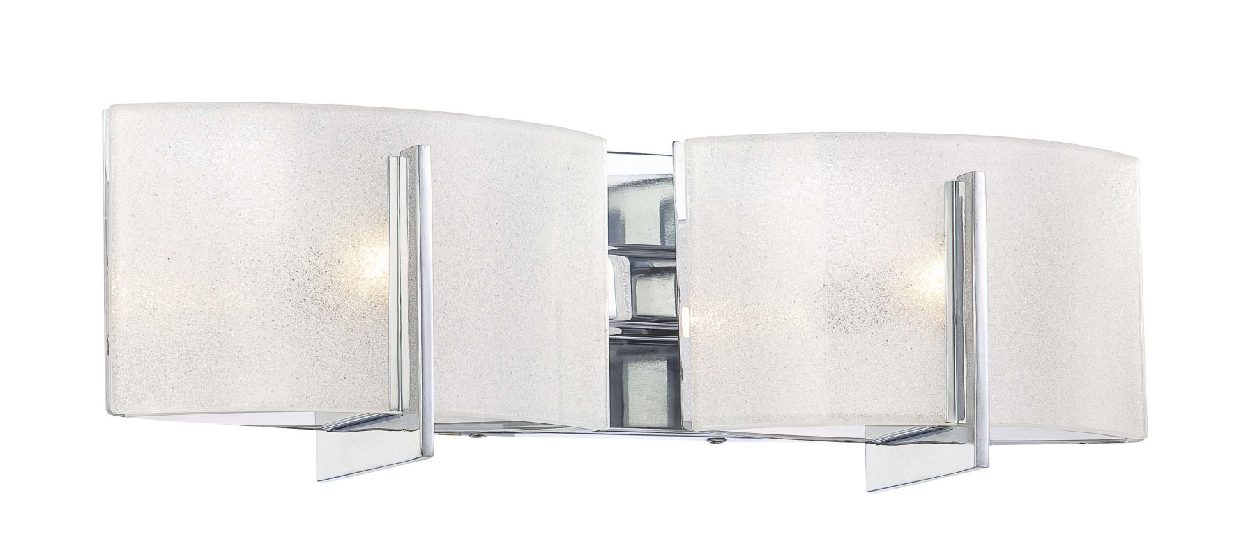 Minka Lavery 6392-77 Chrome 2 Light Bathroom Vanity Light from the Clartu00e9 Collection ...