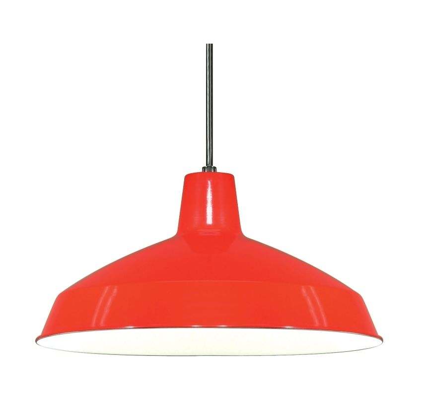 Nuvo Lighting SF76 663 Red Single Light 16 Pendant With