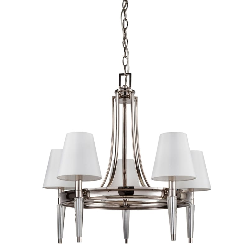 Park Harbor Phhl6075pn Polished Nickel Manteo 26 Wide 5 Light Single Tier Empire Style