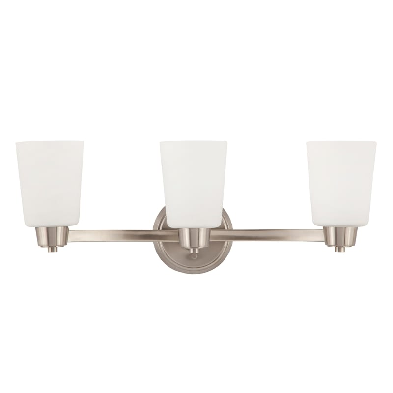 Park Harbor Phvl2003bn Brushed Nickel Windsor Gate 22 Wide 3 Light Bathroom Fixture