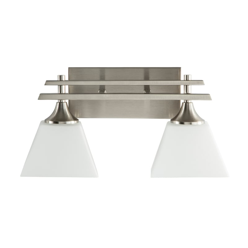 Park Harbor Phvl2232bn Brushed Nickel Mcbryde 17 Wide 2 Light Bathroom Fixture
