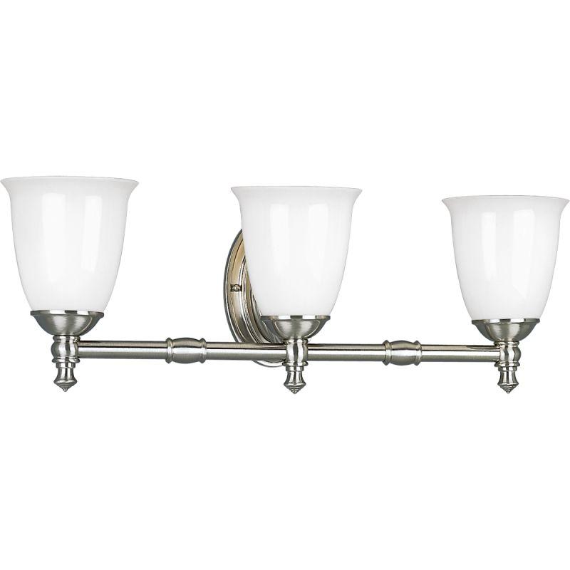 Progress lighting p3029 09 brushed nickel victorian 3 - Victorian bathroom lighting fixtures ...
