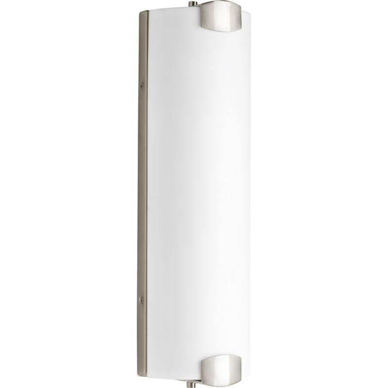 Bathroom Vanity Light Diffuser : Progress Lighting P2093-0930K9 Brushed Nickel Balance LED Bathroom Vanity Light with White ...