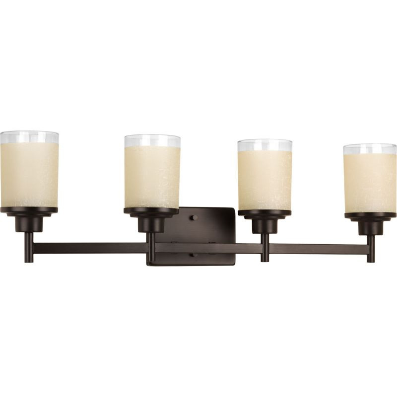 Vanity Lights Point Up Or Down : Progress Lighting P2998-20 Antique Bronze Alexa 4 Light Bathroom Vanity Light with Textured ...