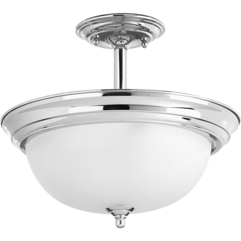 "Progress Lighting P3927-15ET Polished Chrome Dome 13"" Wide"