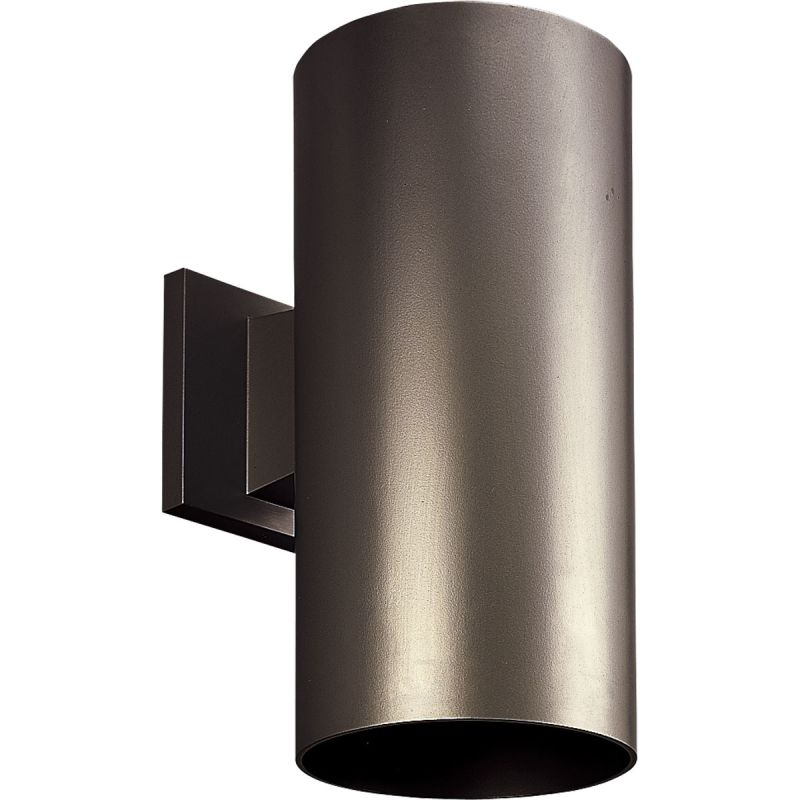 Progress Lighting P5641 20 Antique Bronze Cylinder 1 Light Outdoor Wall Sconc