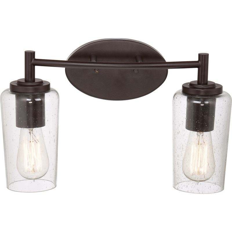 edison 2 light 16 wide reversible bathroom vanity light with clear. Black Bedroom Furniture Sets. Home Design Ideas