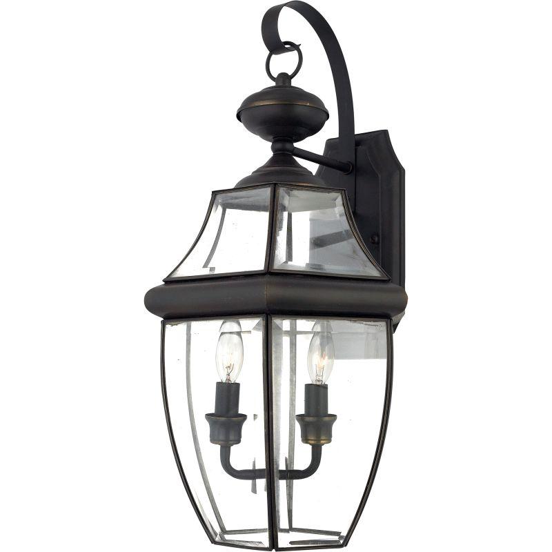 "Quoizel Outdoor Lighting Newbury: Quoizel NY8317Z Medici Bronze Newbury 2 Light 20"" Tall"