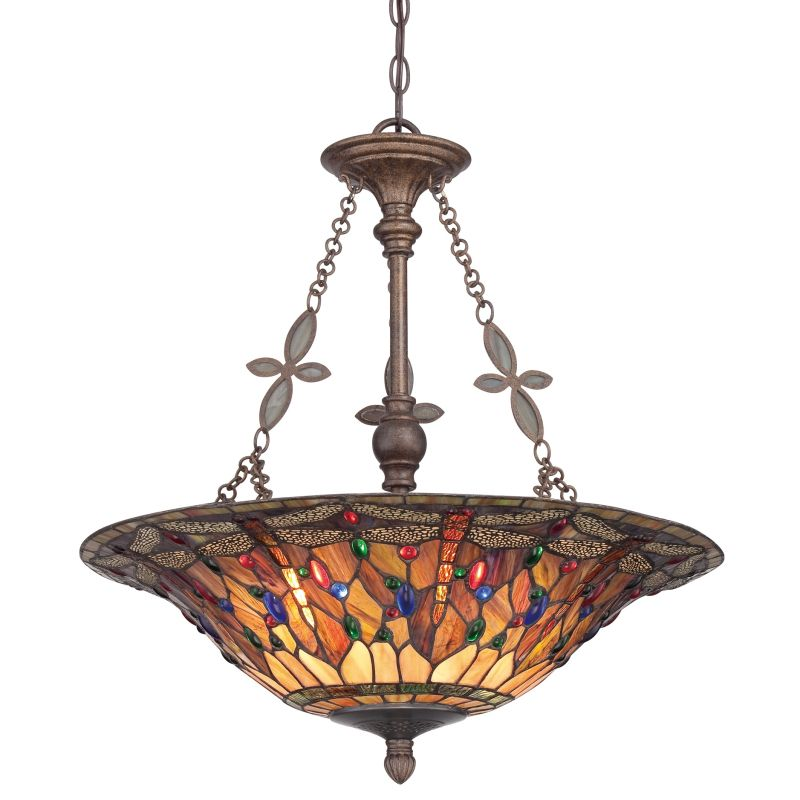 Quoizel Tfjd2822ml Malaga Jewel Dragonfly 4 Light Bowl