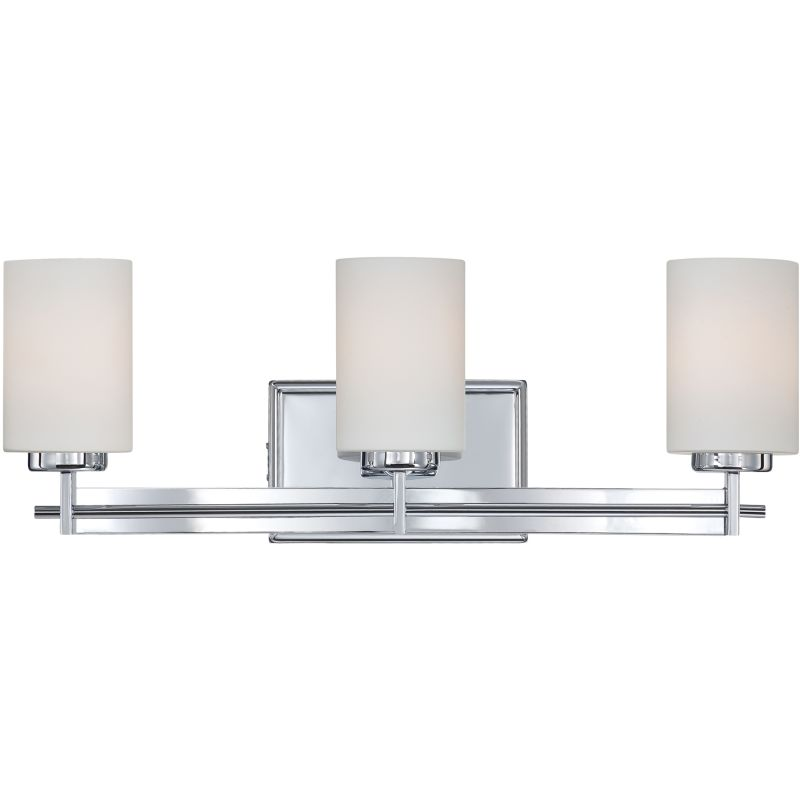 Can Vanity Lights Be Installed Upside Down : Quoizel TY8603C Polished Chrome Taylor 3 Light 21