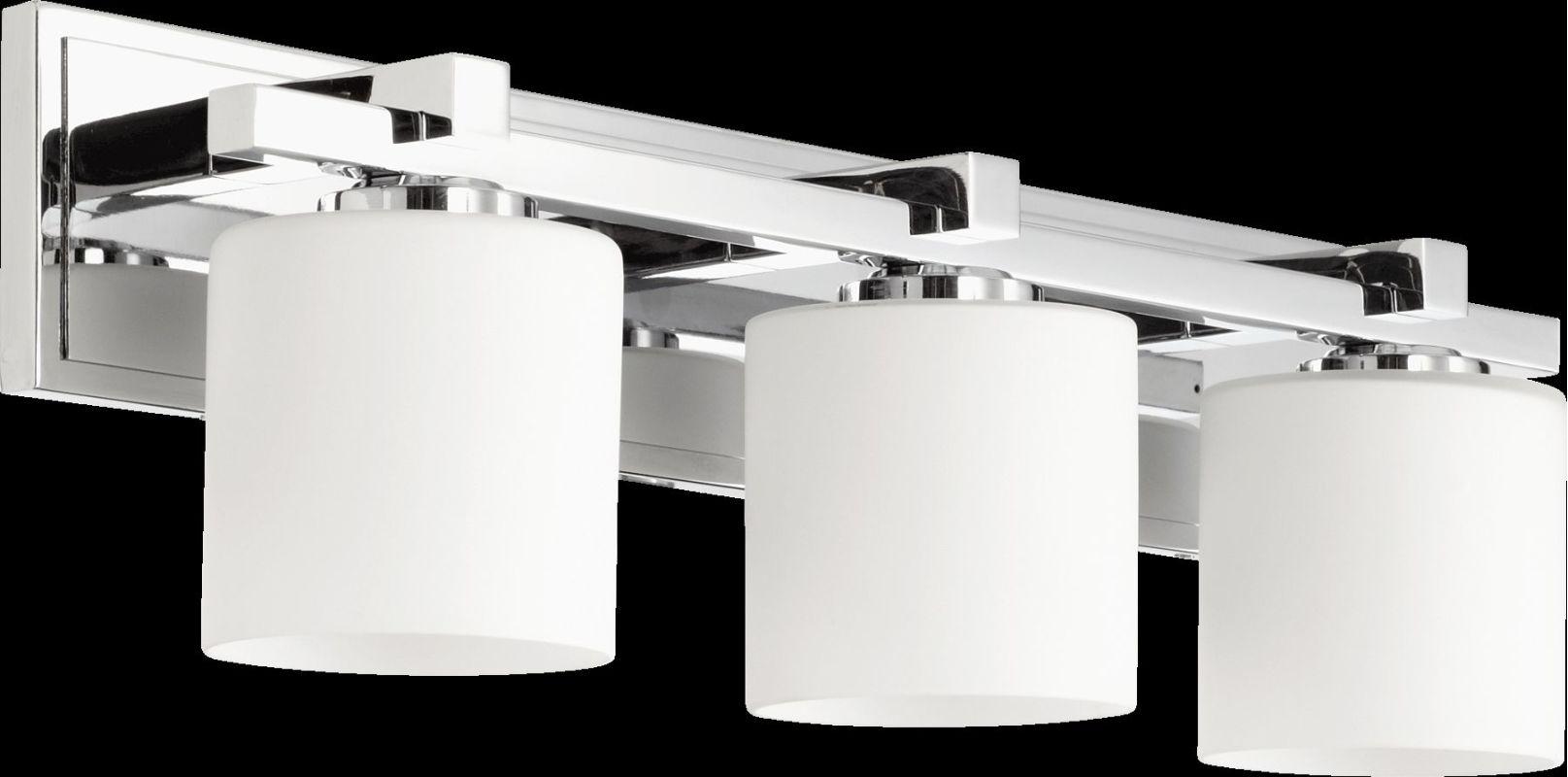 Shop Progress Lighting 3 Light Archie Chrome Bathroom: Quorum International 5369-3-14 Chrome 3 Light Bathroom
