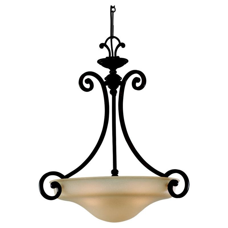 Sea Gull Lighting 65146 814 Misted Bronze Acadia 3 Light Bowl Shaped Pendant