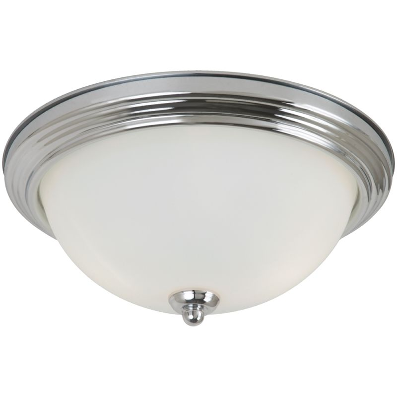 sea gull lighting 77064s 05 chrome ceiling flush mount 1