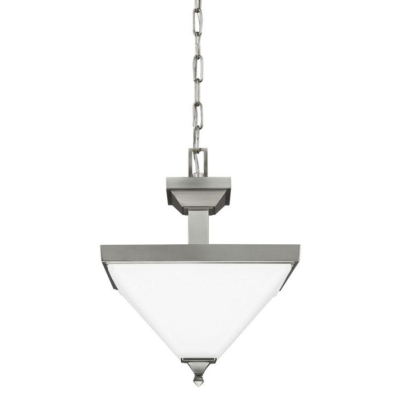 Sea Gull Lighting 7750402 962 Brushed Nickel Denhelm 2 Light Semi Flush Ceili
