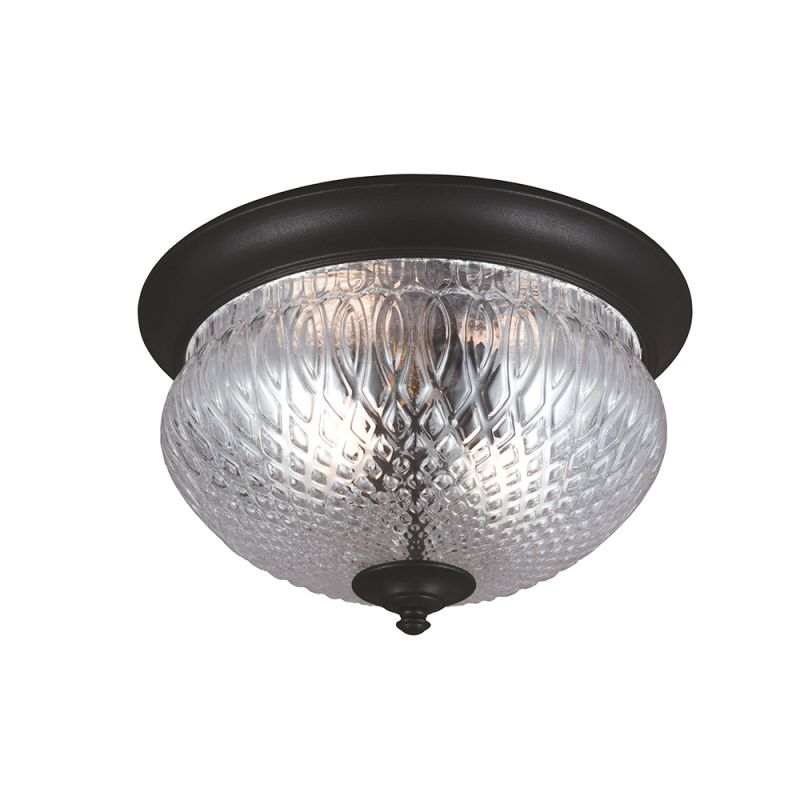 Sea Gull Lighting 7826402 12 Black Garfield Park 2 Light Outdoor Flush Mount