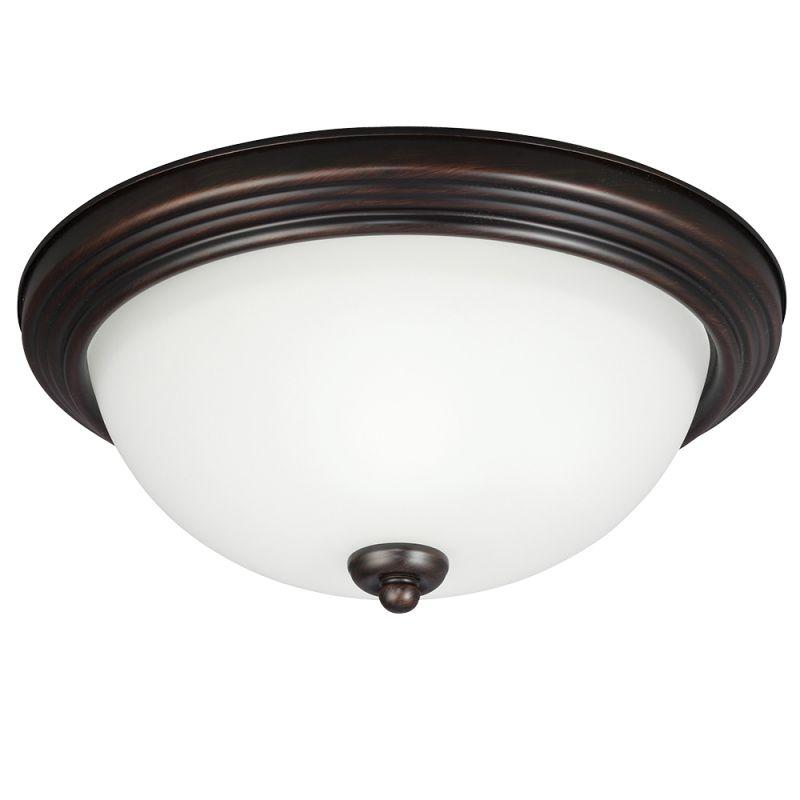 sea gull lighting 79464ble 710 burnt sienna ceiling flush