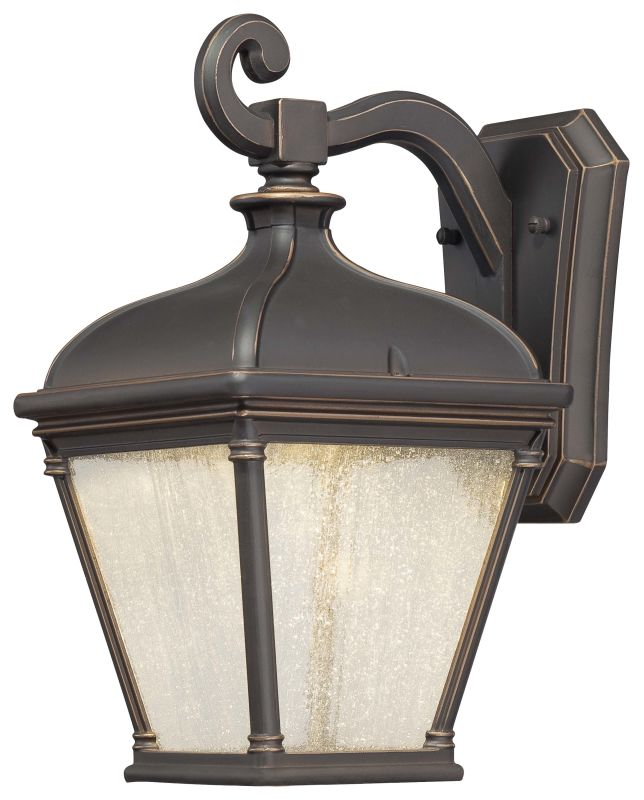 Exterior Wall Sconce Mounting Height : The Great Outdoors 72392-143C Oil Rubbed Bronze / Gold 1 Light 13