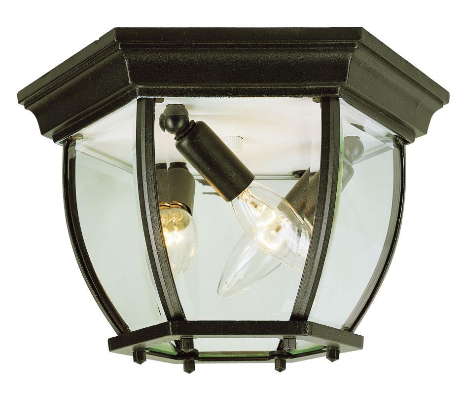 Outdoor Post Down Lighting Fixtures: Trans Globe Lighting 4906 BK Black Three Light Down