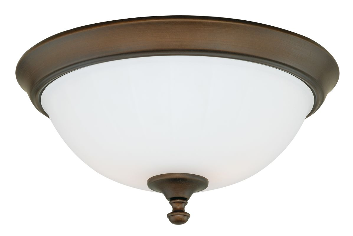 Vaxcel Lighting C0049 Venetian Bronze Claret 3 Light Flush