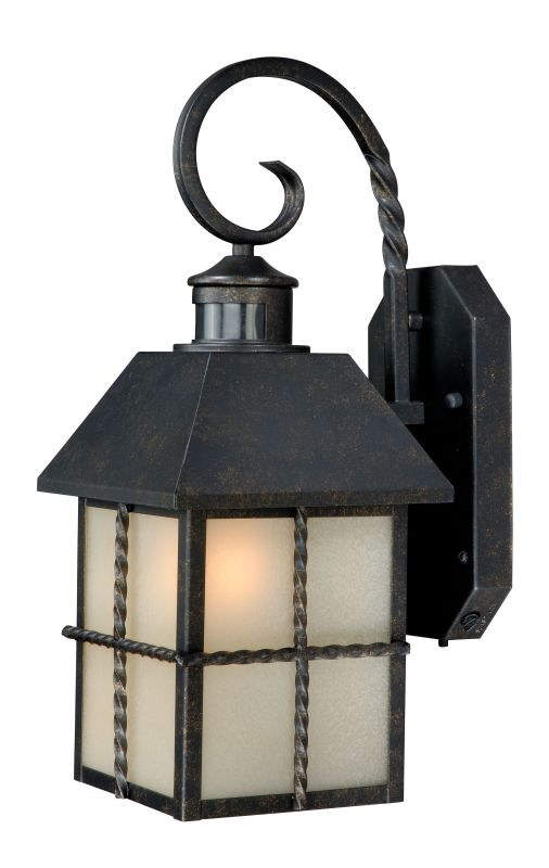 light dualux outdoor wall sconce with photocell and motion sensor. Black Bedroom Furniture Sets. Home Design Ideas