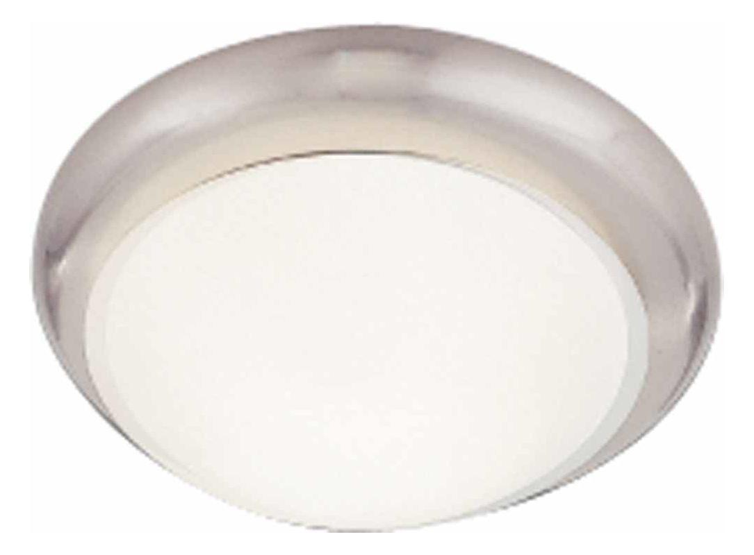"""Volume Lighting V7530-33 Brushed Nickel 1 Light 11"""" Flush"""