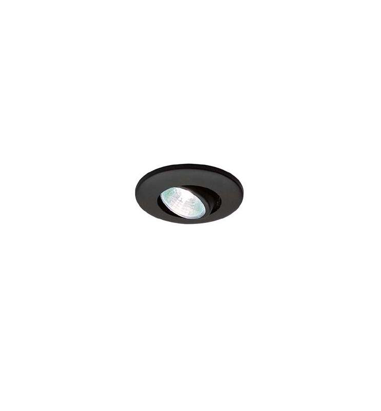 wac lighting hr 1137 bk black wide 1 light low voltage under. Black Bedroom Furniture Sets. Home Design Ideas