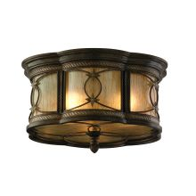 Wrought Iron 3 Light Flushmount Ceiling Fixture from the St. Moritz Collection