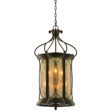 Wrought Iron 6 Light Foyer Pendant from the St. Moritz Collection