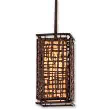 Shoji 1 Light Mini Pendant with Hand Crafted Iron Frame and Handmade Japanese Paper Accents