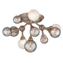 Element 11 Light Flush Mount Ceiling Fixture with Hand-Crafted Iron
