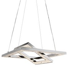 Elan Crushed Ice Chandelier - Cool White