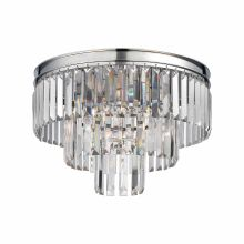 3 Light Flush Mount Ceiling Fixture with Crystal Shades from the Palacial Collection