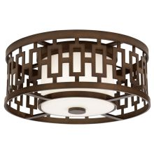 3 Light Outdoor Flush Mount Ceiling Fixture from the River Oaks Collection