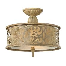 2 Light Semi-Flush Ceiling Fixture from the Carabel Collection