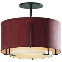 1 Light Semi-Flush Small Ceiling Fixture from the Exos Collection