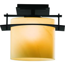 1 Light Down Light Semi-Flush Outdoor Ceiling Fixture from the Ellipse Collection