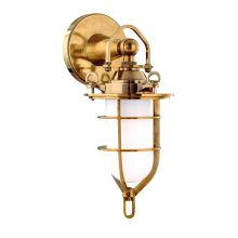 Single Light Ambient Lighting Indoor / Outdoor Cast Brass Lantern Style Wall Sconce from the New Canaan Collection