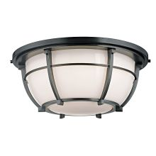 Conrad 3 Light Flush Mount Ceiling Fixture with Opal Glass Shade
