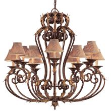12 Light 1 Tier Candle Style Chandelier from the Zaragoza Collection