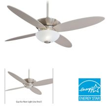 "4 Blade 52"" Zen Energy Star Ceiling Fan - Handheld Remote Control and Blades Included"