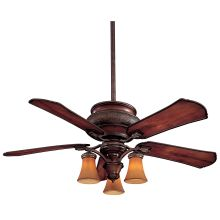 "5 Blade 52"" Indoor / Outdoor Ceiling Fan - Light, Wall Control, Blades Included"