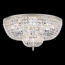 "24"" Wide 10 Light Flush Mount Ceiling Fixture From The Rialto Collection"
