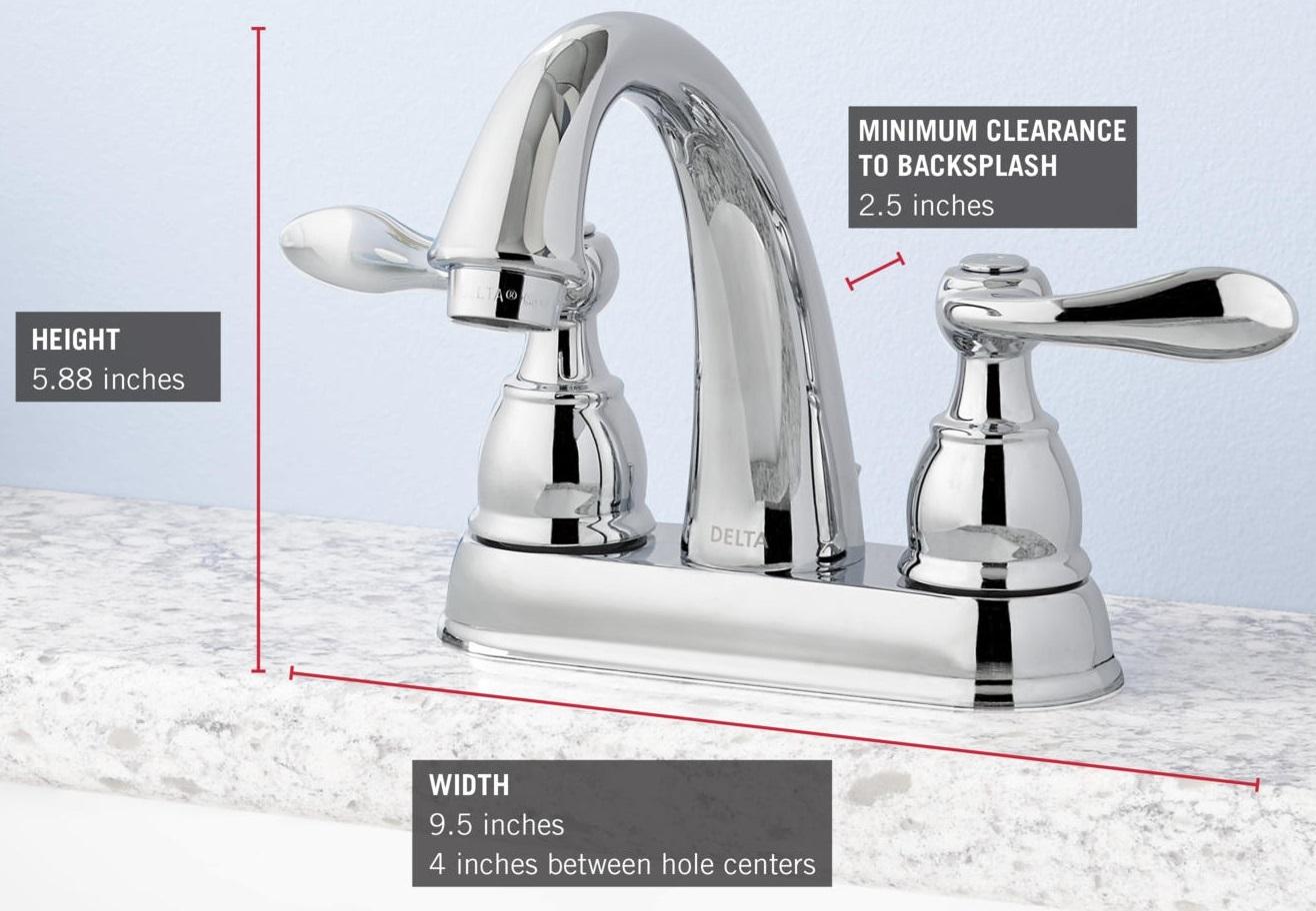Delta Faucet B3596lf Windemere Polished Chrome Two Handle: Delta B2596LF Chrome Windemere Centerset Bathroom Faucet